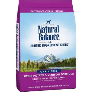 Natural Balance Sweet Potato and Venison Grain Free Limited Ingredient Diets