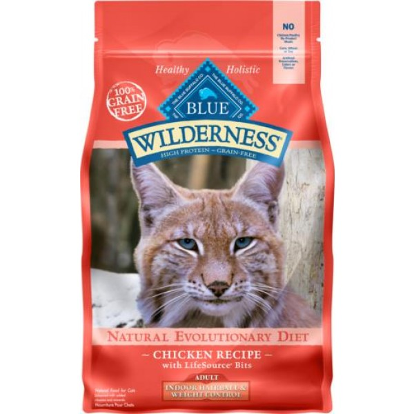 Blue Wilderness Adult Cat Chicken for Indoor, Hairball, Weight Control