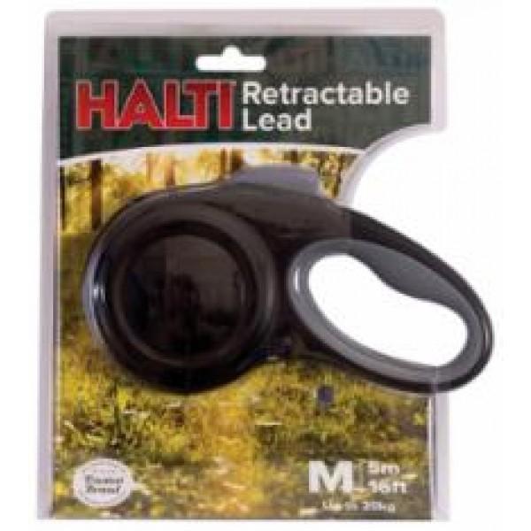 Halti Retractable Lead Medium Black
